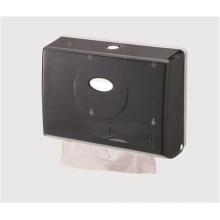 Dispensador de papel plástico montado en la pared al por mayor público decorativo de lujo negro del tejido