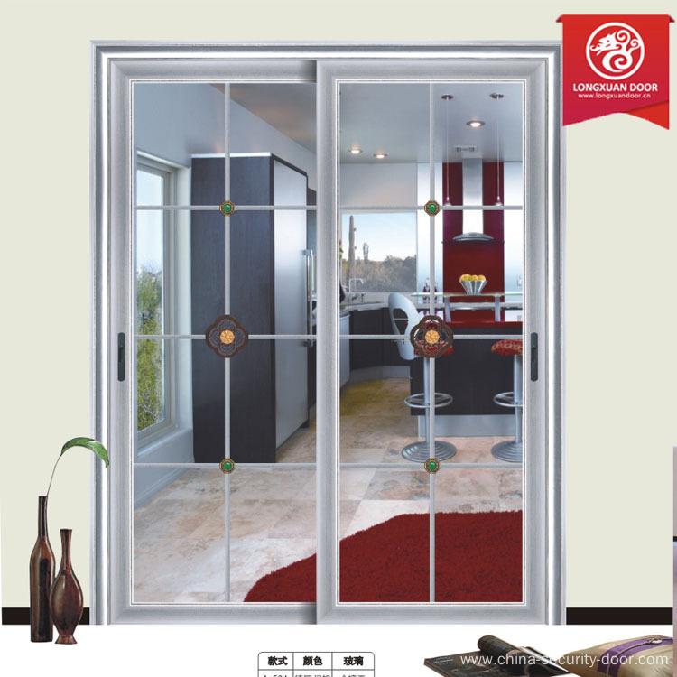 aluminum frame door with wood grain design patio door china
