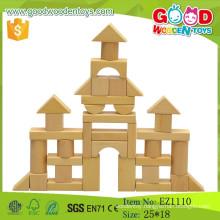 2015 Hot Sale DIY Natural Wooden Block Educational Wooden Toy Blocks