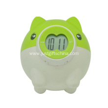 Promotional Piggy Bank Clocks W/ Logo