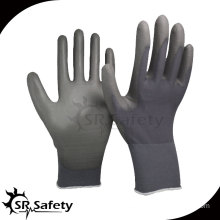 SRSAFETY 15 gauge PU coated gloves safety working gloves