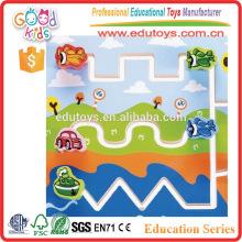 Child Safe Wooden Kids Labyrinth Toys, Handmade Transport Board Game