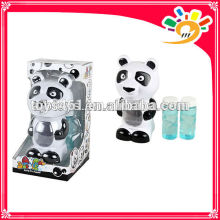Full automation cute cartoon panda bubble machine toy electric bubble machine with two bottles of bubble water