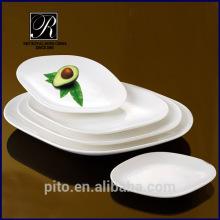 PT-1064 weiße ovale Platte