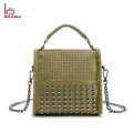 Wholesale PU Ladies Bags Handbag Chain Leather Shoulder Bag
