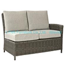 Cadeira de jardim, parte esquerda, sofá de canto de vime