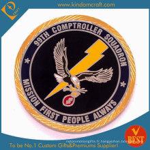 Monnaie métallique militaire personnalisée à l'émail 99e à vendre