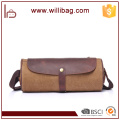 Unique Retro Fashion Messenger Bag Cylinder Leather Shoulder Bag