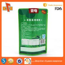 De alta calidad chino de grado alimenticio reutilizable stand up bolsa de plástico de aluminio reutilizable