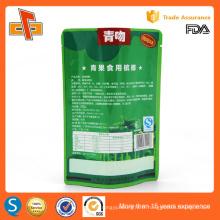 Haute qualité qualité alimentaire chinoise réutilisable stand up réutilisable sac en plastique en aluminium