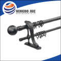 "3/4"" Crown-Staff Finial Adjustable Metal Curtain Rod"