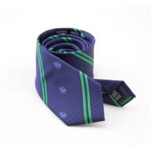 Cravate colorée double face à rayures pour hommes
