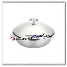 C055 Indução redonda Chafer com prato de comida em aço inoxidável / Chafing Dish