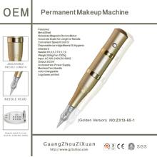 Caneta de maquiagem permanente digital Golden Rocket e kit de máquina de tatuagem