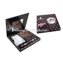 multi cor olho sobrancelha kit/pallete com estênceis, escova e espelho