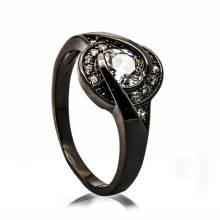 Conception noire à la mode d'anneau de perle de support de téléphone de bijoux de cuivre pour la femme