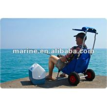 Foldable Beach Trolley With Adjustable Sunshade