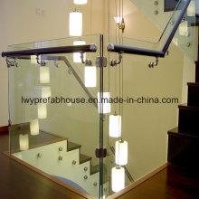 Anti-effect duidelijk Low-E getemperd frameloze glazen Leuning trap (LWY-TG10)