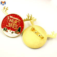 Metal Custom Enamel Christmas Brooch Pin
