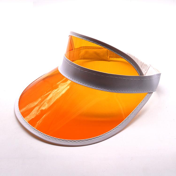orange transparent pvc visor cap