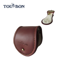 Tourbon Innovative Large Size Canvas and Leather fishing reel case/Top Grain Genuine leather Fishing Reel Cover Pouch/real case