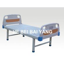 A-104 плоская больничная койка с головкой из ABS-кровати