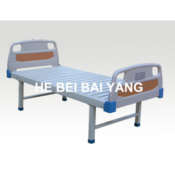 a-104 Flat Hospital Bed with ABS Bed Head