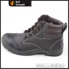 PU Injection Genuine Leather Ankle Safety Shoe (SN5317)