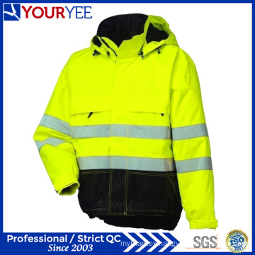 Affordable Hi Vis Rain Jacket with 3m Reflective Tape (YFS114)