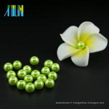 Nouvelle Arrivée UA66 Bijoux De Mode Accessoires Peridot Perle En Verre Perles 6mm Perles À Ficeler