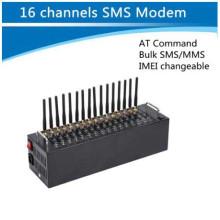 16 Puertos GSM / GPRS Módem SMS Módem USB Puerto múltiple Módem GSM / SIM GSM Caja VoIP Gateway