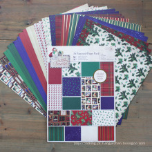 Natal DIY Scrapbooking A4 Papel Padrão Pack Handmade Scrapbook Paper