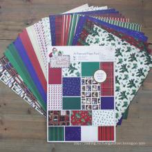 Рождество DIY Scrapbooking A4 Patterned Paper Pack Ручная записная бумага