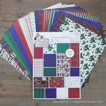 Noël Bricolage Scrapbooking A4 Paquet de papier à motif Papier Scrapbook fait à la main