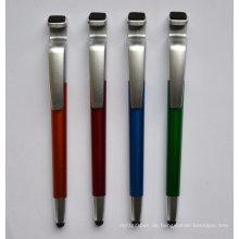 Der Handy Ständer Stift mit einem Stylus Touch und Reiniger für Bildschirm