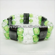01B5004-2/new products for 2013/hematite spacer bracelet jewelry/hematite bangle/magnetic hematite health bracelets