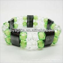 01B5004-2 / novos produtos para 2013 / hematita spacer pulseira de jóias / bracelete de hematita / pulseiras de saúde hematita magnética