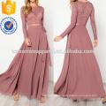 Crop Lace Top & Knot Skirt Set Manufacture Wholesale Fashion Women Apparel (TA4081SS)