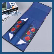 Boîte en carton pliée d'aimant pour des accessoires de salle de bains