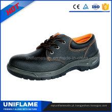 Sapatos de trabalho de segurança de couro de homens industriais En20345