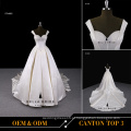 2017Novo vestido de casamento de cetim design nupcial