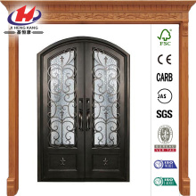 Orleans Classic 3/4 Lite Wrought Iron Prehung Front Door