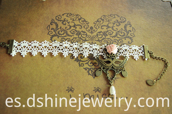Wedding Bridal White Lace Anklet
