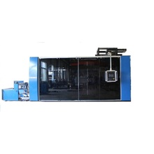 Máquina automática de termoformagem de caixa plástica multifunções