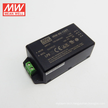 Cheap original MEANWELL 1W to 60W miniature with screw terminal 12VDC ac/dc converters IRM-60-12ST