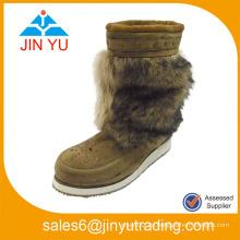 Hecho en China Zapato de la mujer del cargador del invierno de la piel