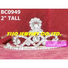 Superbes couronnes et tiaras de cristal simples