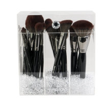 Diamond Collection Acrylic Makeup Brush Holder