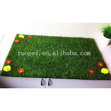 30mm cheap artificial grass carpet with flowers from China market