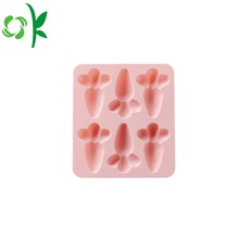 BPA Free Silicone Chocolate Carrot Shape Square Forms